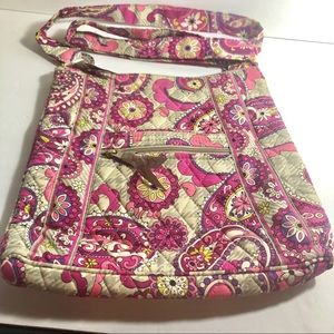 Vera Bradley purse handbag pinks and khaki